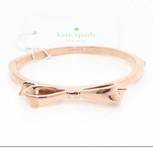 NWT Kate Spade Rose Gold Bow Bangle